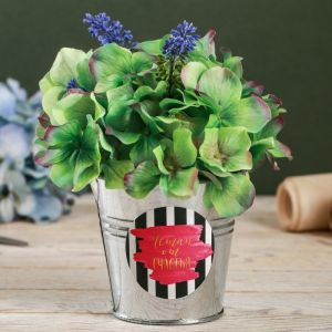 Металлическое кашпо для цветов «Летай от счастья», 9,5 ? 9,5 см