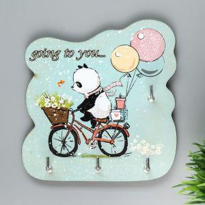 """Ключница """"Панда на велосипеде""""   4705862"""