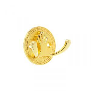 Крючок мебельный, KM223GP, цвет золото   3609932