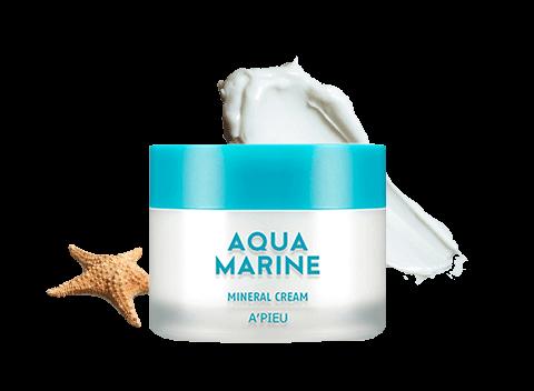 Крем для лица минеральный  увлажняющий A'Pieu Aqua Marine Mineral