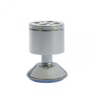 Опора мебельная, регулируемая, алюминиевая, D=50 мм, h=80 мм, цвет матовый хром   3836627