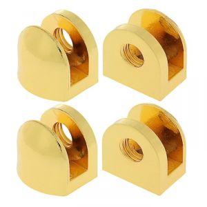 Полкодержатель P106GP, 6 мм, 4 шт в наборе, цвет золото 3528218