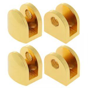 Полкодержатель P108GP, 8 мм, 4 шт в наборе, цвет золото 3528221