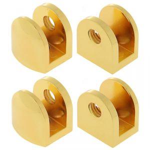 Полкодержатель P110GP, 10 мм, 4 шт в наборе, цвет золото 3528224