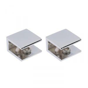 Полкодержатель PL011, H=8 - 12 мм, цвет хром, в комплекте 2 шт.   3836610