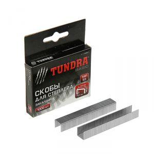 Скобы для степлера TUNDRA закалённые, тип 53, (11.3 х 0.7 мм), 10 мм (1000 шт.) 1112951