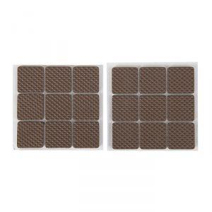 Накладка мебельная квадратная TUNDRA, размер 25 х 25 мм, 18 шт., полимерная, коричневая 3609860