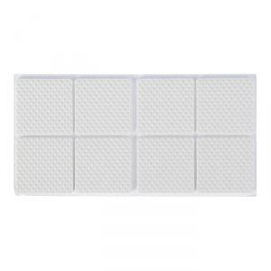Накладка мебельная квадратная TUNDRA, размер 38 х 38 мм, 8 шт, полимерная, цвет белый 3609861