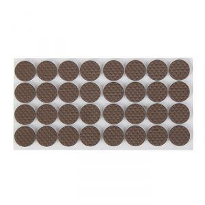 Накладка мебельная круглая TUNDRA, D=18 мм, 32 шт., полимерная, цвет коричневый 3609864