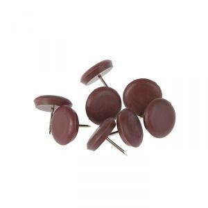 Накладка мебельная круглая TUNDRA, D=22 мм, 8 шт., пластиковая, цвет коричневый 3609877