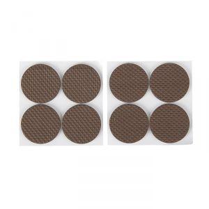 Накладка мебельная круглая TUNDRA, D=38 мм, 8 шт., полимерная, цвет коричневый 3609868