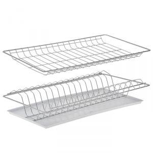 Комплект посудосушителей с поддоном 46,5х25,6 см, для шкафа 50 см, хром