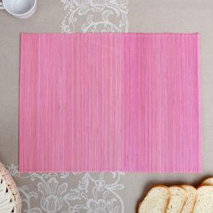 Салфетка плетёная, красно-розовая, 30?40 см, бамбук   4427954