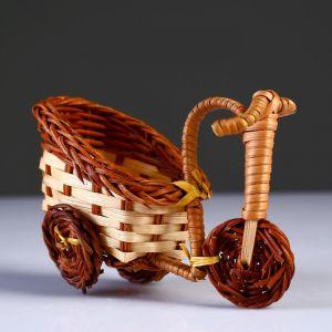 Плетеные сувениры (Велосипед) 13х7 см Н 10 см.(Бамбук срезан) 4822640