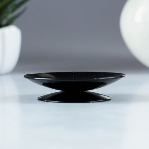 подсвечник лотос черный муар   1596039