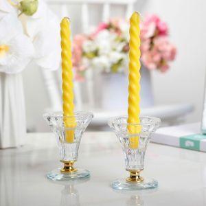 Свеча витая (набор 2 шт) h=15 см, аромат лимон 403624