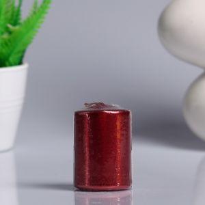 Свеча - цилиндр парафиновая, красная, 4?6 см   4723602