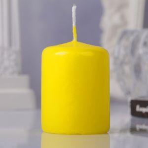 Свеча пеньковая, 4х5см, жёлтая   3721359