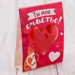 Свеча-сердце «Ты моё счастье»