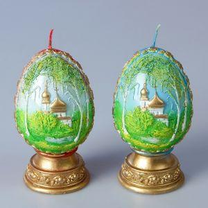 Декоративная свеча «Пасхальное яйцо с берёзой»   3041601