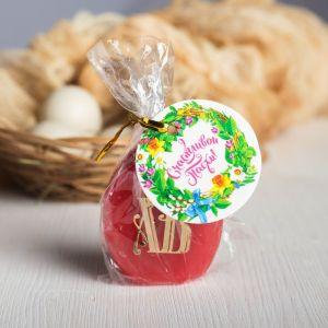 Пасхальная свеча-яйцо с наклейкой «Храм»