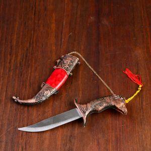 Сувенирный нож мини, 21,5 см рукоятка в форме головы лошади 258154