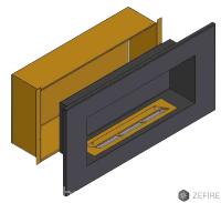 Теплоизоляционный корпус для встраивания в мебель для очага 1200 мм