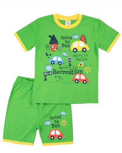 "Костюм для мальчика Bonito kids ""Going to Fun"" зеленый"