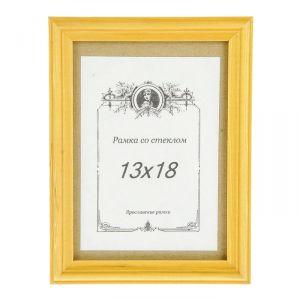Фоторамка сосна янтарь 2/1 13х18 см МИКС   2077535