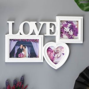 "Фоторамка-Коллаж  ""Любовь"" на 3 фото   4672827"