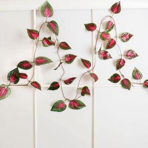"""Лиана """"Лист-сеточка с красными прожилками"""" 250 см (цена за штуку) 2589963"""