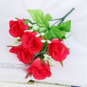 """Букет """"Розы с мелкими листьями"""" 32 см микс   4736432"""