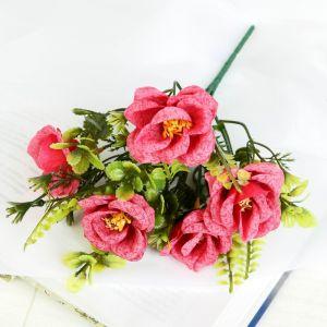 """Букет """"Розы с папоротником"""" 25 см микс   4736456"""