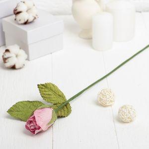 """Искусственный цветок """"Роза"""" розовая 40 см 3257401"""