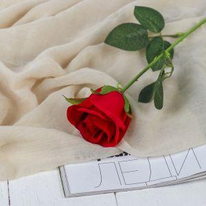 """Цветы искусственные """"Роза Аква"""" 5*40 см, красный   3794238"""