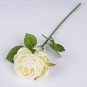 """Цветы искусственные """"Роза Пьяно"""" 8*45 см, белый   3794258"""