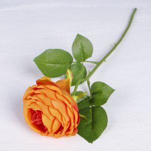 """Цветы искусственные """"Роза Пьяно"""" 8*45 см, оранжевый   3794257"""