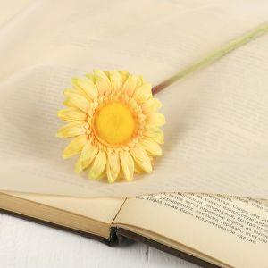 """Цветок искусственный """"Гербера Алмак"""" 8*44 см, жёлтый   2248784"""