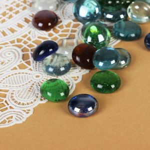 """Камень для декора """"Разноцветные плоские марблс"""" (250 г), микс"""