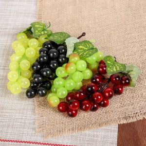 Искусственный виноград, 22 ягоды, глянцевый, микс