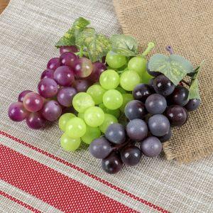 Искусственный виноград, 22 ягоды, матовый, микс