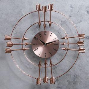 """Часы настенные, серия: Интерьер, """"Двенадцать стрел"""", медные, d=42 см 2723548"""