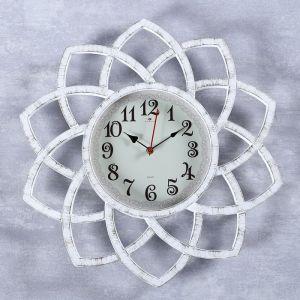 "Часы настенные, серия: Интерьер, ""Кабао"", белые, 49.5 см 4551263"