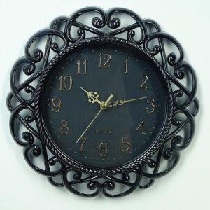 """Часы настенные, серия: Интерьер, """"Классика"""", круглые, витые, черные d=30 см 3620773"""