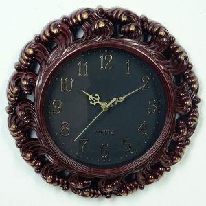 """Часы настенные, серия: Интерьер, """"Классика"""", круглые, узор волны, бордо d=30 см 3620774"""