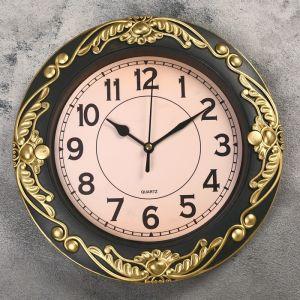 """Часы настенные, серия: Интерьер, """"Трина"""", бронзовые, d=26 см, микс  2998056"""