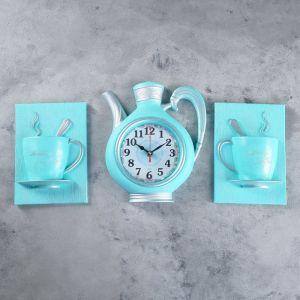 """Часы настенные, серия: Кухня, """"Чайный сервиз"""", 26.5х53 см 4551227"""
