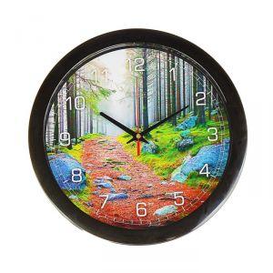 """Часы настенные, серия: Природа, """"Лесная тропа"""", 28х28 см 2436862"""