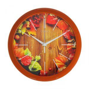"""Часы настенные, серия: Природа, """"Осенний гербарий"""", 28х28 см 2436426"""