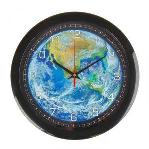 """Часы настенные, серия: Природа, """"Планета Земля"""", 28х28 см 2436861"""